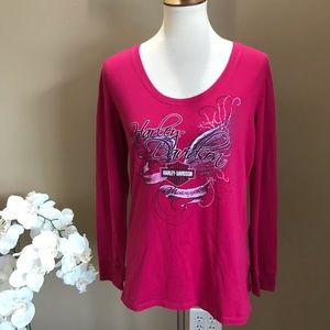 Harley Davidson Pink Long Sleeve Top Daytona FL